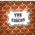 circus hearts pattern retro vector image