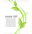 Ecology wave background with beautiful leaves vector image vector image