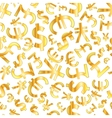 Golden signs of world currencies on white vector image