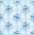blue roses floral wallpaper vector image