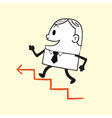 Business Man Running Up vector image