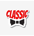 classic bow-tie vector image