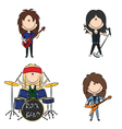 kid rock band vector image