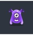 Purple Alien With Funnel Ears vector image