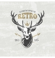 Deer hunters club badges labels logos vector image