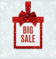 Big sale square banner in form of gift vector image vector image