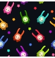 Seamless pattern with cute cartoon colorful aliens vector image