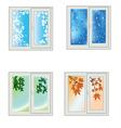 Window seasons vector image