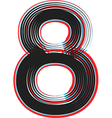 abstract font number 8 vector image vector image