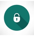 Open lock icon vector image vector image