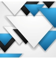 Corporate abstract tech triangles background vector image vector image