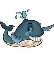 Happy Whale vector image
