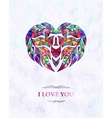 Abstract card with heart I love you vector image
