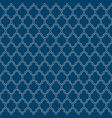 flat outline blue moroccan seamless pattern vector image