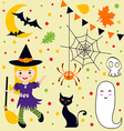 Halloween fun set vector image