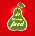 healthy food pear vector image