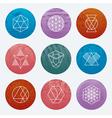 Hipster Linear Emblems Set vector image