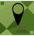 map pointers Flat modern web button on a flat vector image
