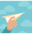 paper plane launch vector image