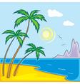 paradise beach vector image