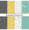 Patterns Sea Summer Hipster Hand Drawn Seamless vector image