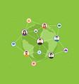 social media network concept vector image