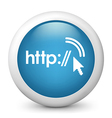 http glossy icon vector image vector image
