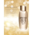 BB Cream Bottle Template for Ads or Magazine vector image