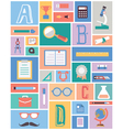 Set of education equipment Flat style vector image vector image