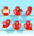 cute birds vector image vector image