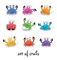 Cute crabs funny characters vector image