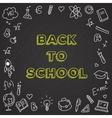 back to school Chalkboard vector image
