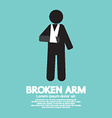 Broken Arm Graphic Symbol vector image