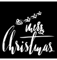 Classic lettering design for a Christmas greetings vector image