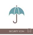 insurance icon umbrella sign vector image