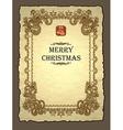 royal christmas invitation vector image