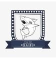 shark emblem image vector image