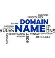word cloud - domain name vector image