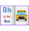 A picture of a bus in a book vector image vector image