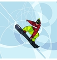 Snowboarder jumping abstract image vector image