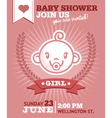 Baby Girl Shower Invitation vector image vector image