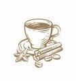 coffee cup sketch vector image