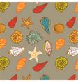 shells seamless vector image
