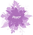 Pink isolated foliage silhouettes trendy banner vector image