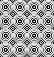 Seamless geometric background simple black and vector image