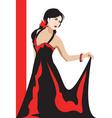 girl illustration vector image vector image