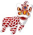 Cartoon Chinese lion mascot vector image