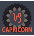 Capricorn Goat Zodiac icon with mandala print vector image