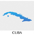 cuba map in north america continent design vector image