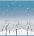 cute seamless pattern with trees vector image